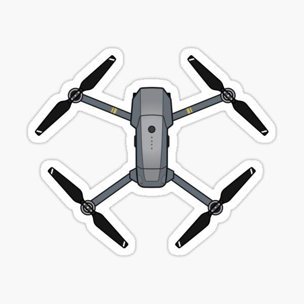 Mavic Pro Drone Illustration Sticker