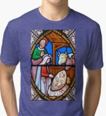 Stained glass 9. Tri-blend T-Shirt
