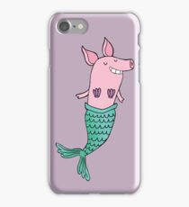 Mermaid Pig - Purple  iPhone Case/Skin