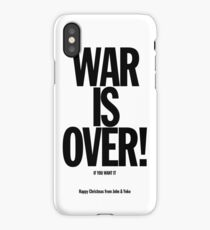 War is Over iPhone Case