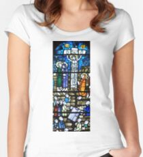 Stained glass  10. Women's Fitted Scoop T-Shirt