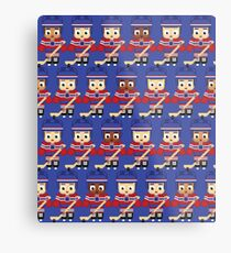 Ice Hockey Blue and Red - Super cute sports stars Metal Print