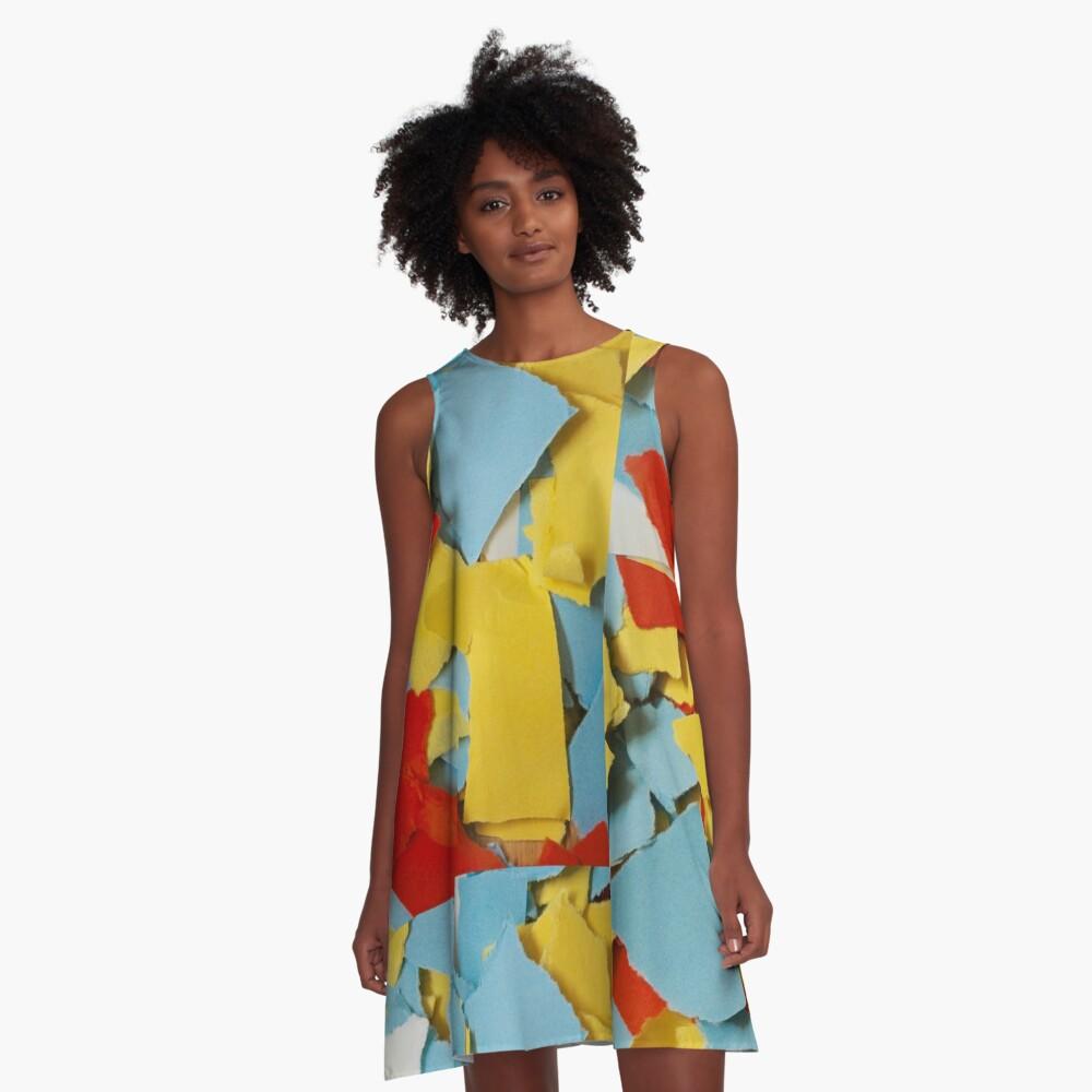 Shredded Sunny Skies A-Line Dress