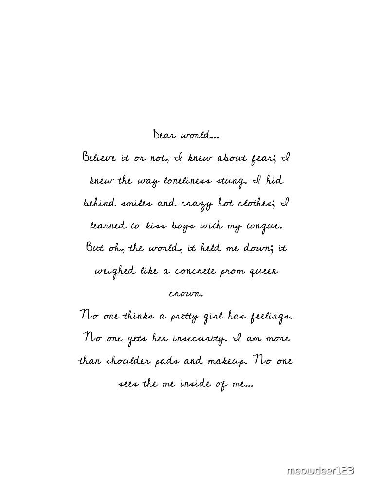 The Me Inside of Me - Heather the Musical - Lyrics