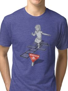 Hopscotch Minefield Tri-blend T-Shirt
