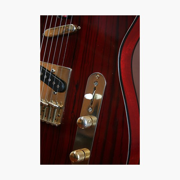 Guitar Body - RED Photographic Print