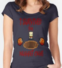 I Survived the Nugget Cave Women's Fitted Scoop T-Shirt