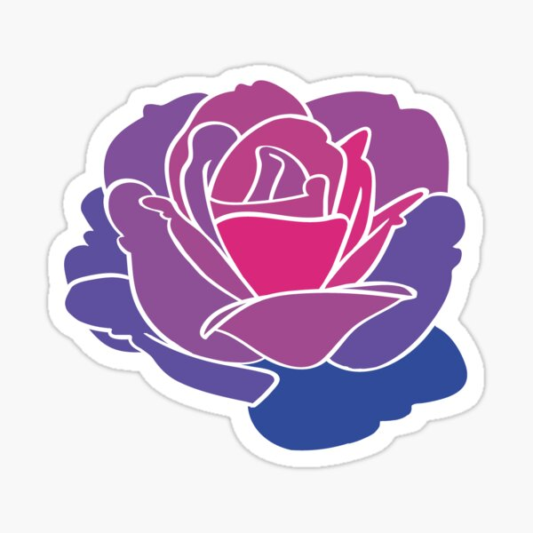 Bi Pride Rose Sticker