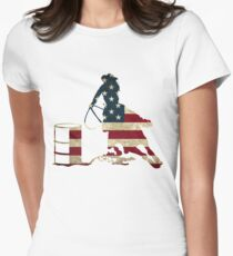 USA Barrel Racing Women's Fitted T-Shirt