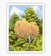 Willow Tree - Denver Botanic Gardens Sticker