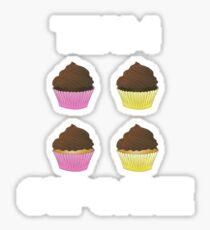 Team Cupcake Shirt Sticker