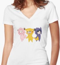 Team 7 Crossover Women's Fitted V-Neck T-Shirt