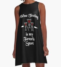 Vestido acampanado Wine Testing Is My Superpower Shirt