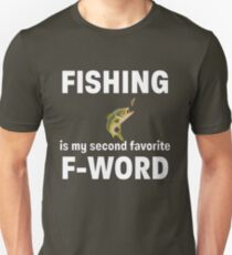 F Word Funny Fishing Angling Design Unisex T-Shirt