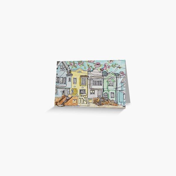 San Francisco Houses #3 Greeting Card