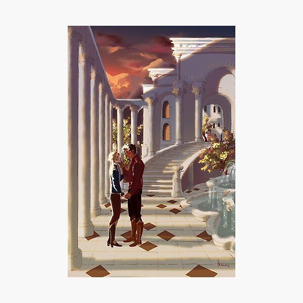 Kiss by the Colonnades Photographic Print