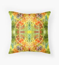 Encaustic With Leaves 01 Pattern  Throw Pillow