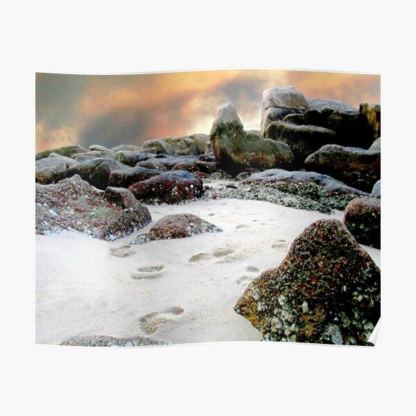Footsteps in the Sand, v.2, Edit E Poster