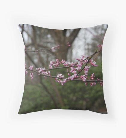 Redbud Throw Pillow