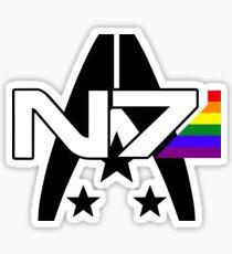 Mass Effect N7 Alliance Gay Pride Sticker Sticker