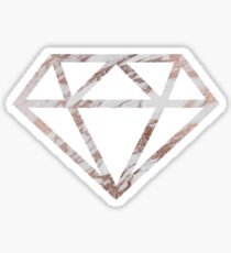 Rose Gold Marble Diamond Aesthetic Sticker