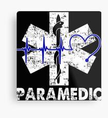Paramedic Flag Metal Print