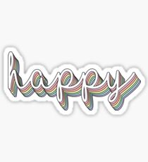 Happy rainbow pastel Sticker