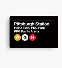 Pittsburgh Pro Sports Venue Subway Sign Canvas Print