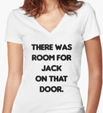 There Was Room for Jack Women's Fitted V-Neck T-Shirt