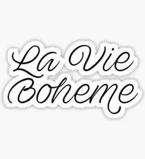 La Vie Boheme Rent Sticker