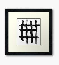 Ink Grid Framed Print