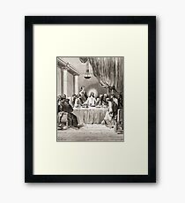 Bible New Testament Gustave Dore or Doré Jesus and the disciples at the Last Supper Framed Print