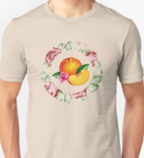 Peach and Flower Unisex T-Shirt