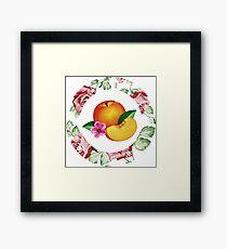 Peach and Flower Framed Print