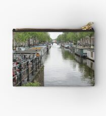 Houseboats on Canal Studio Pouch