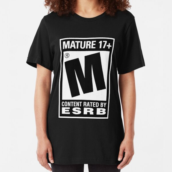 RATED M (MATURE) Slim Fit T-Shirt