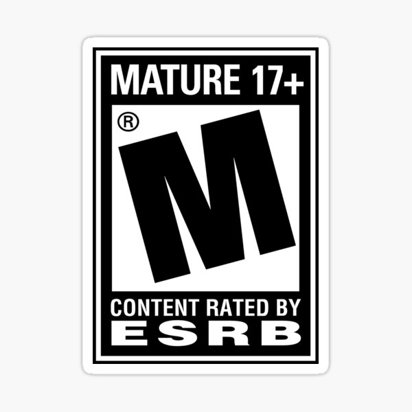 RATED M (MATURE) Sticker