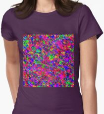 Abstract pattern in impressionism style.  Womens Fitted T-Shirt