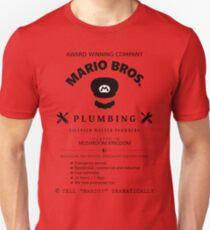 Mario Bros. Plumbing Service Unisex T-Shirt