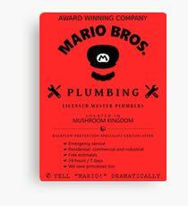 Mario Bros. Plumbing Service Canvas Print