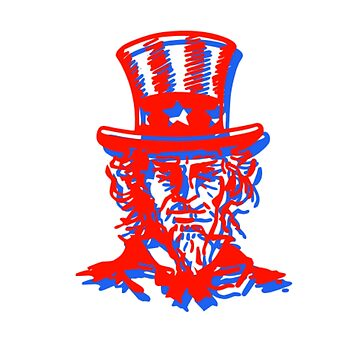 Uncle Sam Patriotic 3D Style Design by JennitechDesign
