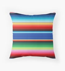 Traditional Colourful Mexican Poncho Background Throw Pillow
