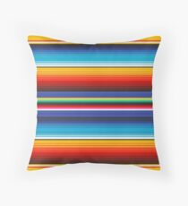 Colourful Mexican Poncho Background Throw Pillow