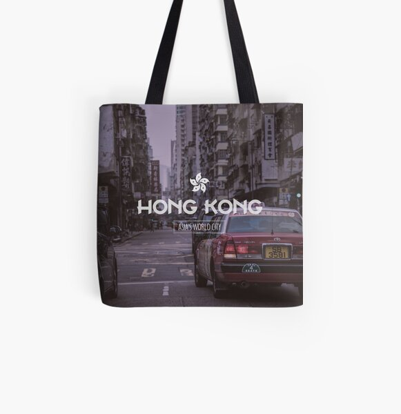 Hong Kong Street All Over Print Tote Bag