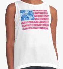Watercolor Boho Vintage American Flag - Alternate Contrast Tank