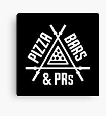 Pizza, Bars and PRs Fitness Triangle Canvas Print
