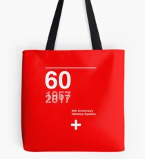 60th Anniversary  Helvetica Typeface Tote Bag