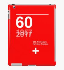 60th Anniversary  Helvetica Typeface iPad Case/Skin