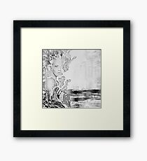 You just slipped through my fingers, 2017, 50-50cm, graphite crayon on paper Framed Print