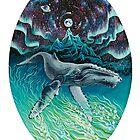 Whale Northern Lights by Ruta Dumalakaite